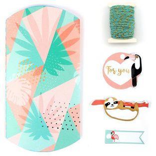 6 cajas de regalo para hacer - Tropical