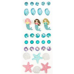 26 3D stickers - Mermaid