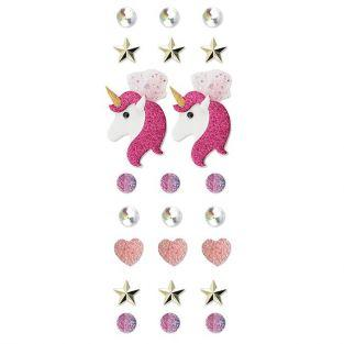 23 stickers 3D - Licorne