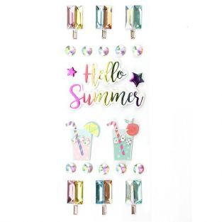 22 3D stickers - Hello Summer