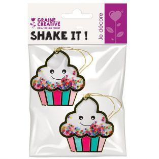 2 3D labels shaker tags - Ice