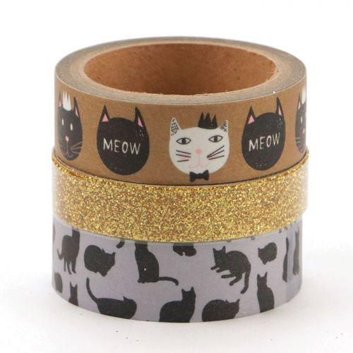 3 masking tapes - Cats