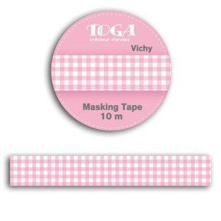 Masking tape 10m - vichy rose