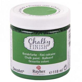 Pintura tiza Chalky Finish 118 ml - Verde eterno