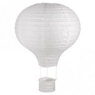 Linterna de papel globo de aire caliente con marco de metal Ø 30 x 40 cm