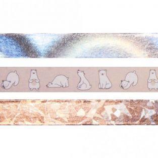 3 masking tapes 10 m x 1,5 cm - Nordique