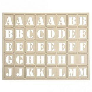 120 letras de madera para tablero - 3 x 2.4 cm