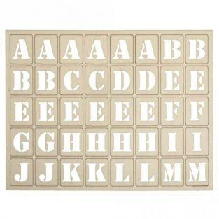 120 wood letters for Letterboard 3 x 2.4 cm