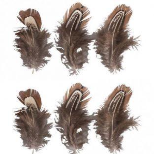 6 plumes décoratives - Brun chevreuil