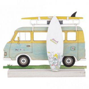 Wooden silhouette to customize 20 x 14 cm - Camping car