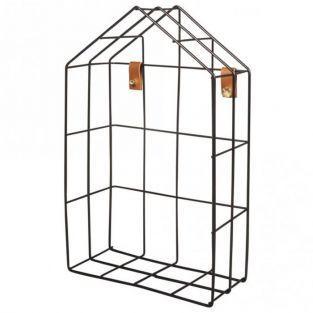 Estante de alambre Casa 16 x 7 x 25 cm - Negro