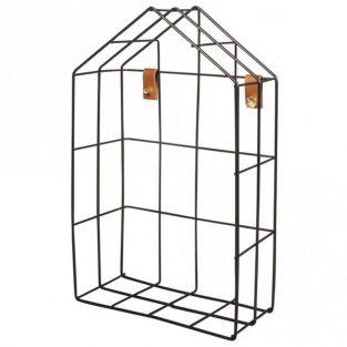 House Wire Shelf 16 x 7 x 25 cm - Black