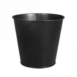 Black metal cup Ø 13 x 12 cm