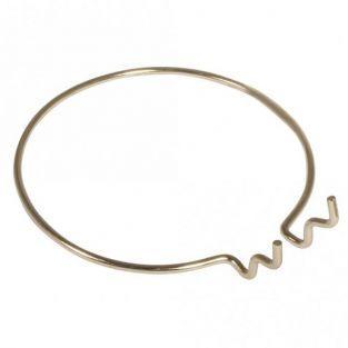 Porte-gobelet métallique Ø 12 cm - Doré