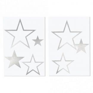 Transfert 6 étoiles argentées thermocollantes à repasser