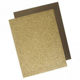 Transfer termoadhesivo con efecto metálico 21,5 x 28 cm - Dorado
