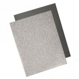 Transfer termoadhesivo con efecto metálico 21,5 x 28 cm - Plateado