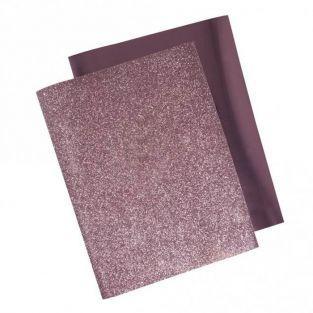 Transfert thermocollant métallique à repasser 21,5 x 28 cm - Rosé