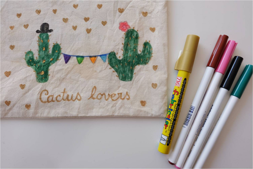 customisation trousse cactus lovers