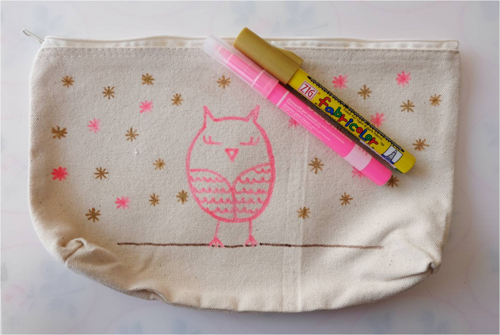 customisation trousse chouette