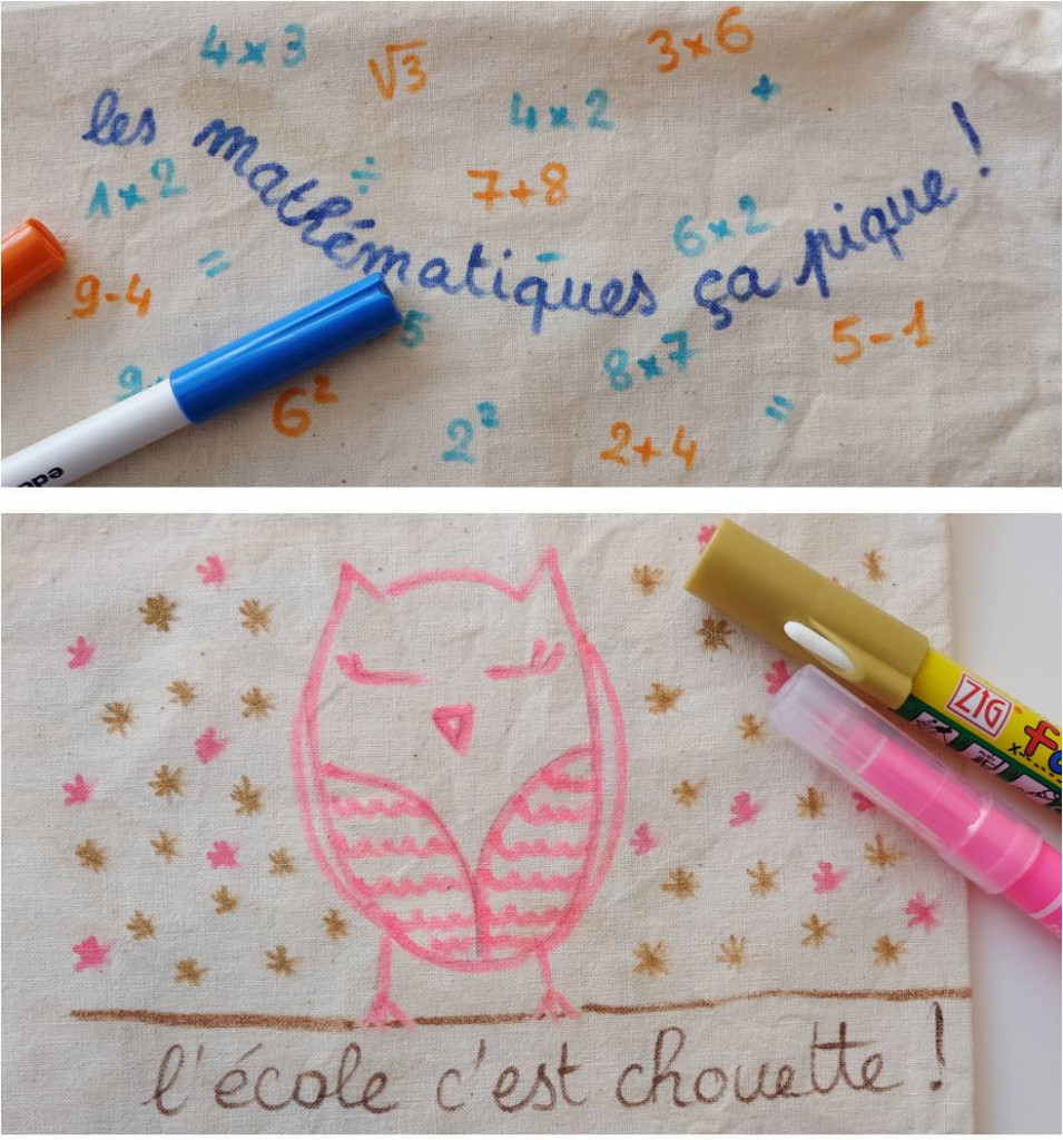 trousse ecole customisation