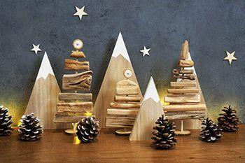 Ocio creativo para Navidad - Papá Noel, abeto, flocones