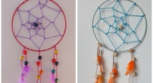 Dream catchers : the homemade DIY kit for kids from 8 !