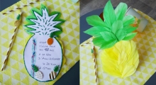 Pineapple birthday DIY invitation