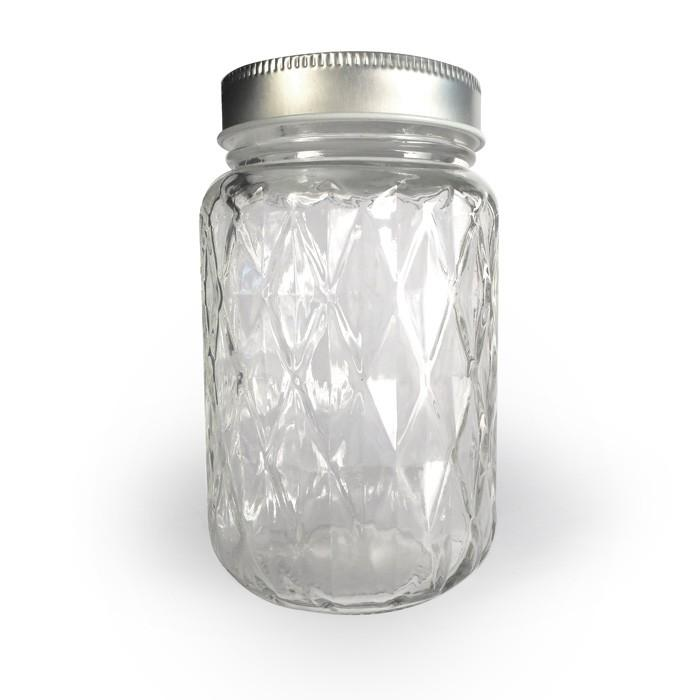 mason jar 375 ml diamant bocaux mugs flacons youdoit. Black Bedroom Furniture Sets. Home Design Ideas