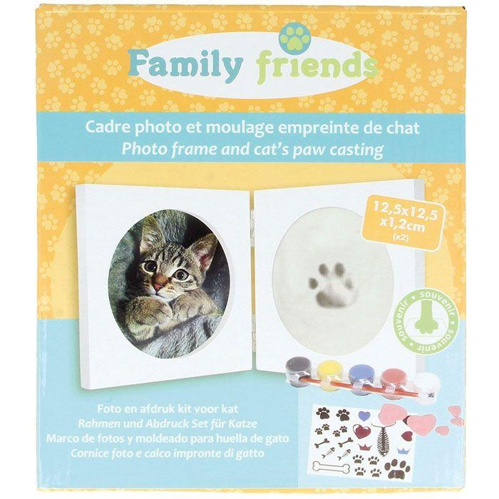 Picture frame box + footprint mold - Cat