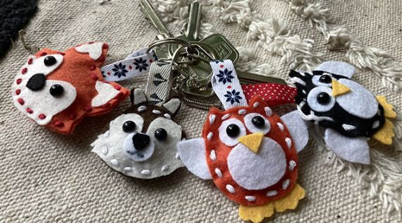 DIY: make your own keychain owl