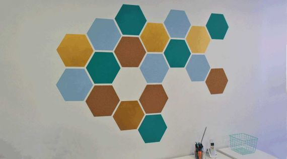 DIY : Hexagonal wall decoration